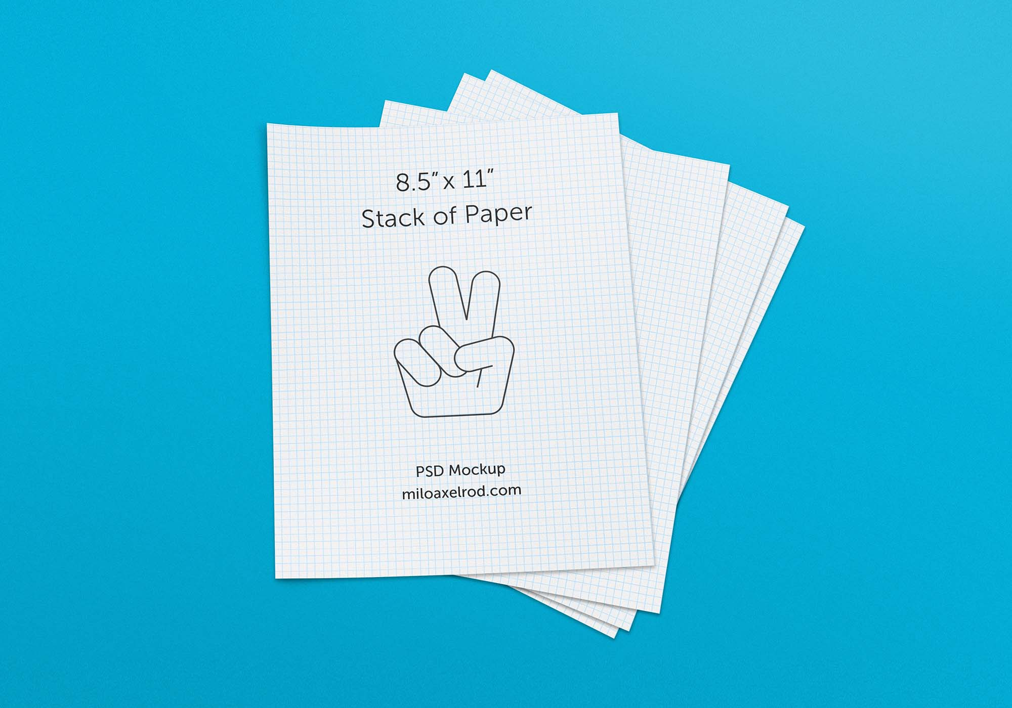Stack of Paper Mockup