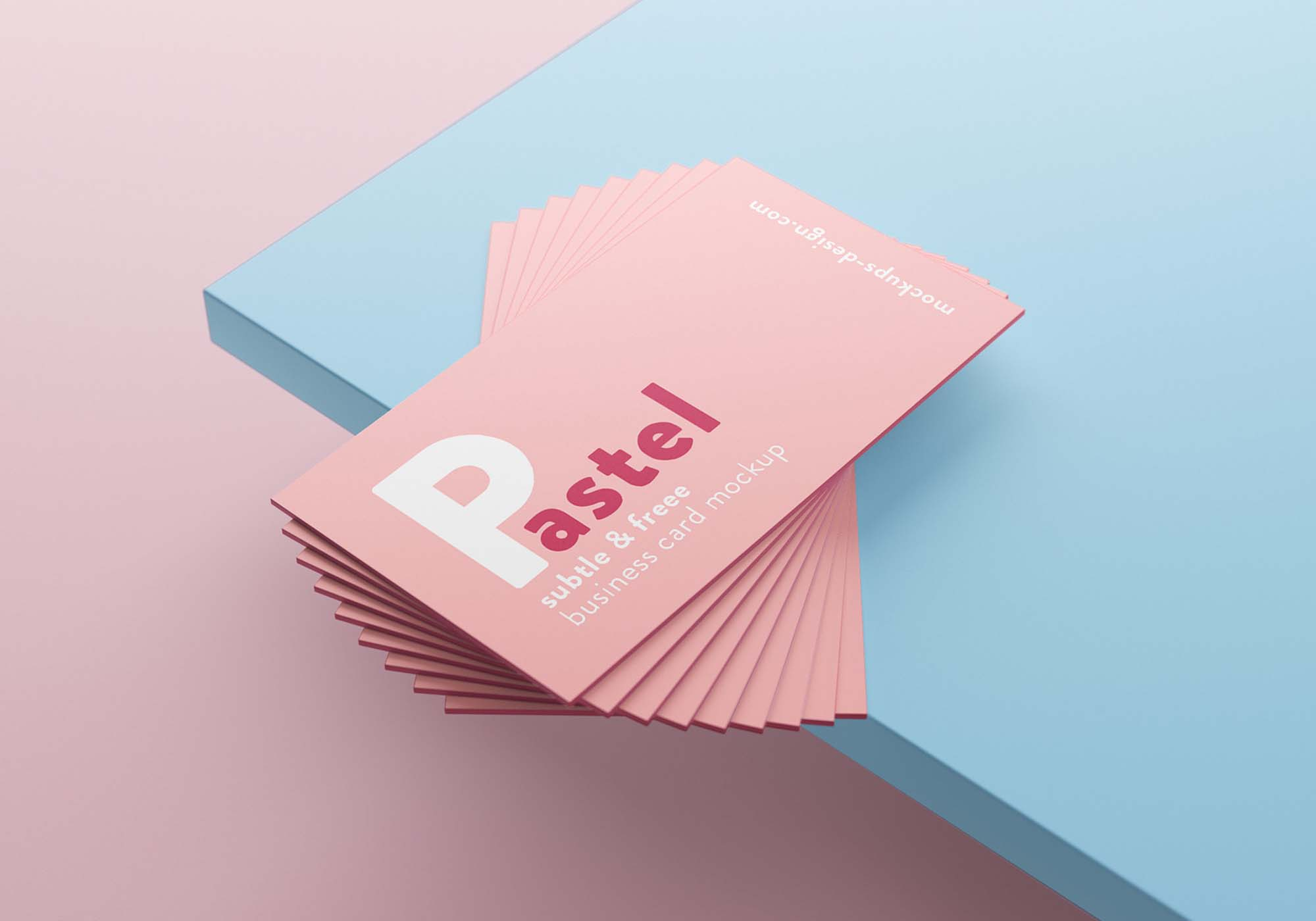 Stacks of Business Cards Mockup