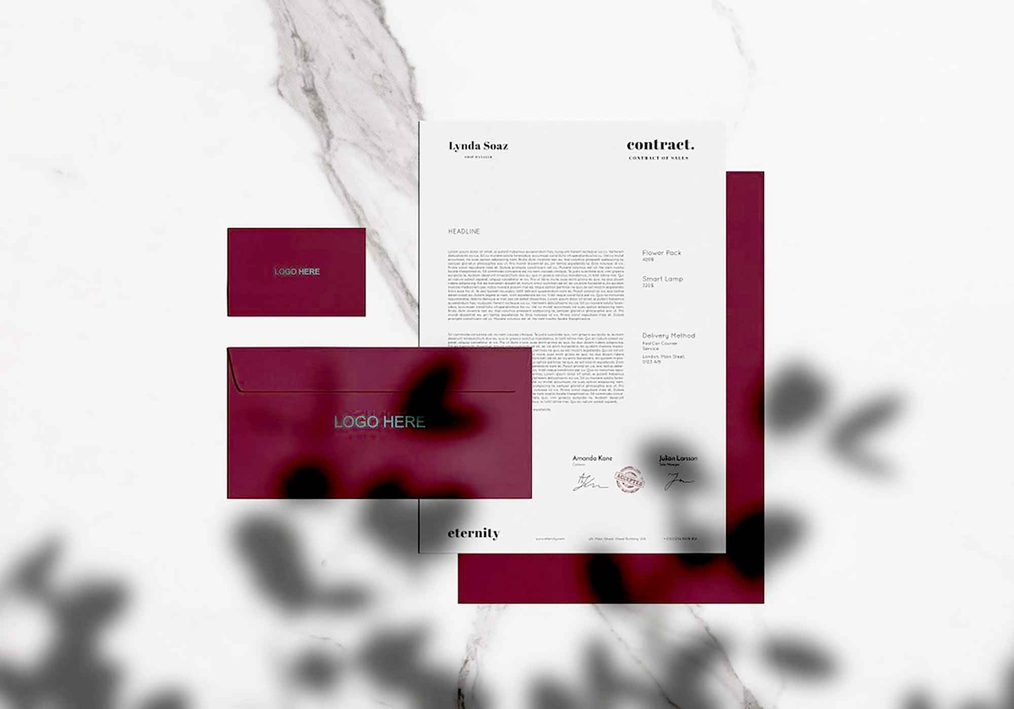 Stationary with Shadow Mockup 2