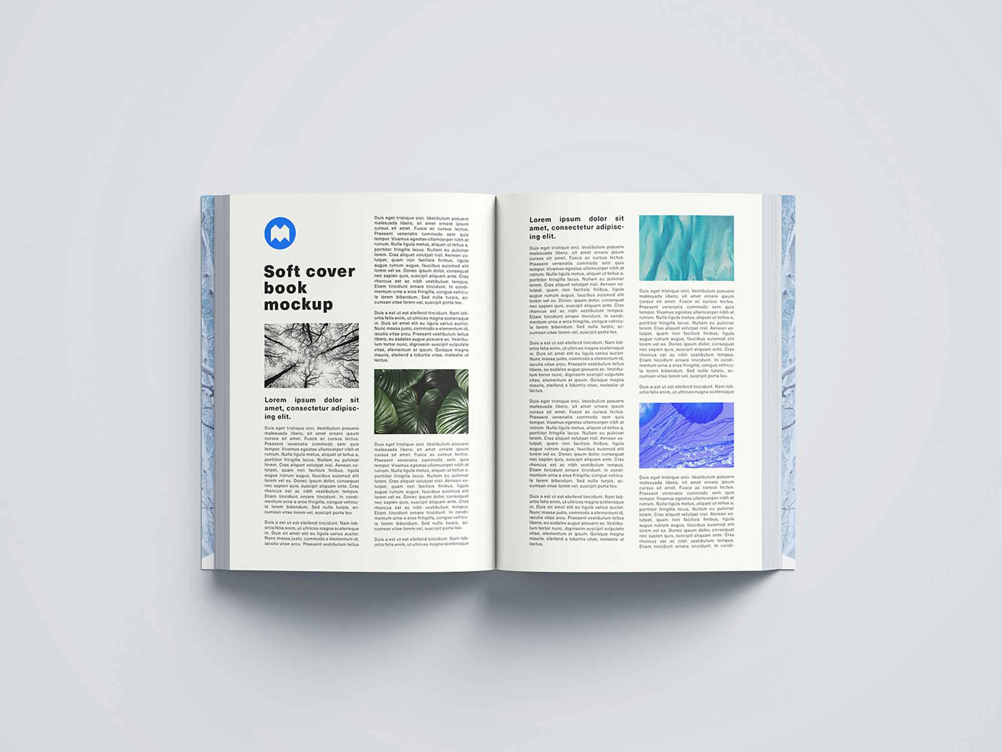 Thick Softcover Book Mockup 4