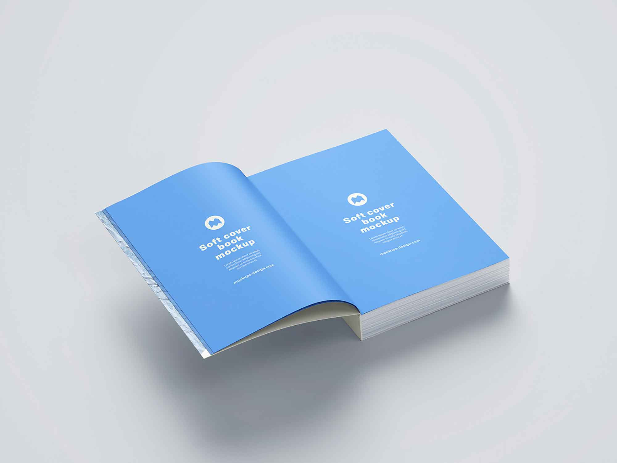 Thick Softcover Book Mockup 6