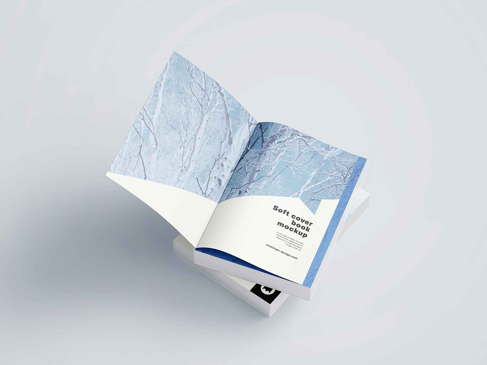 Thick Softcover Book Mockup 9
