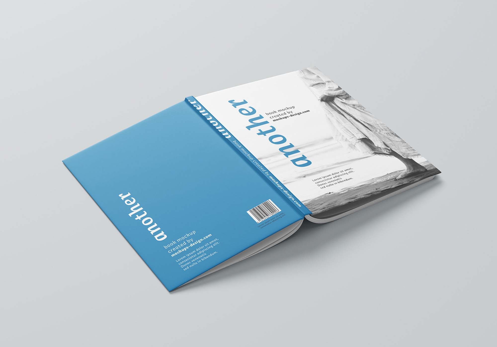 Thin A4 Hardcover Book Mockup