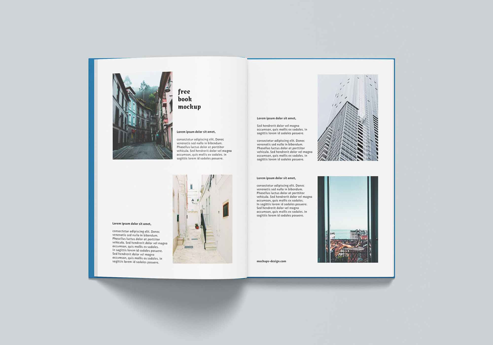 Thin A4 Hardcover Book Mockup 5