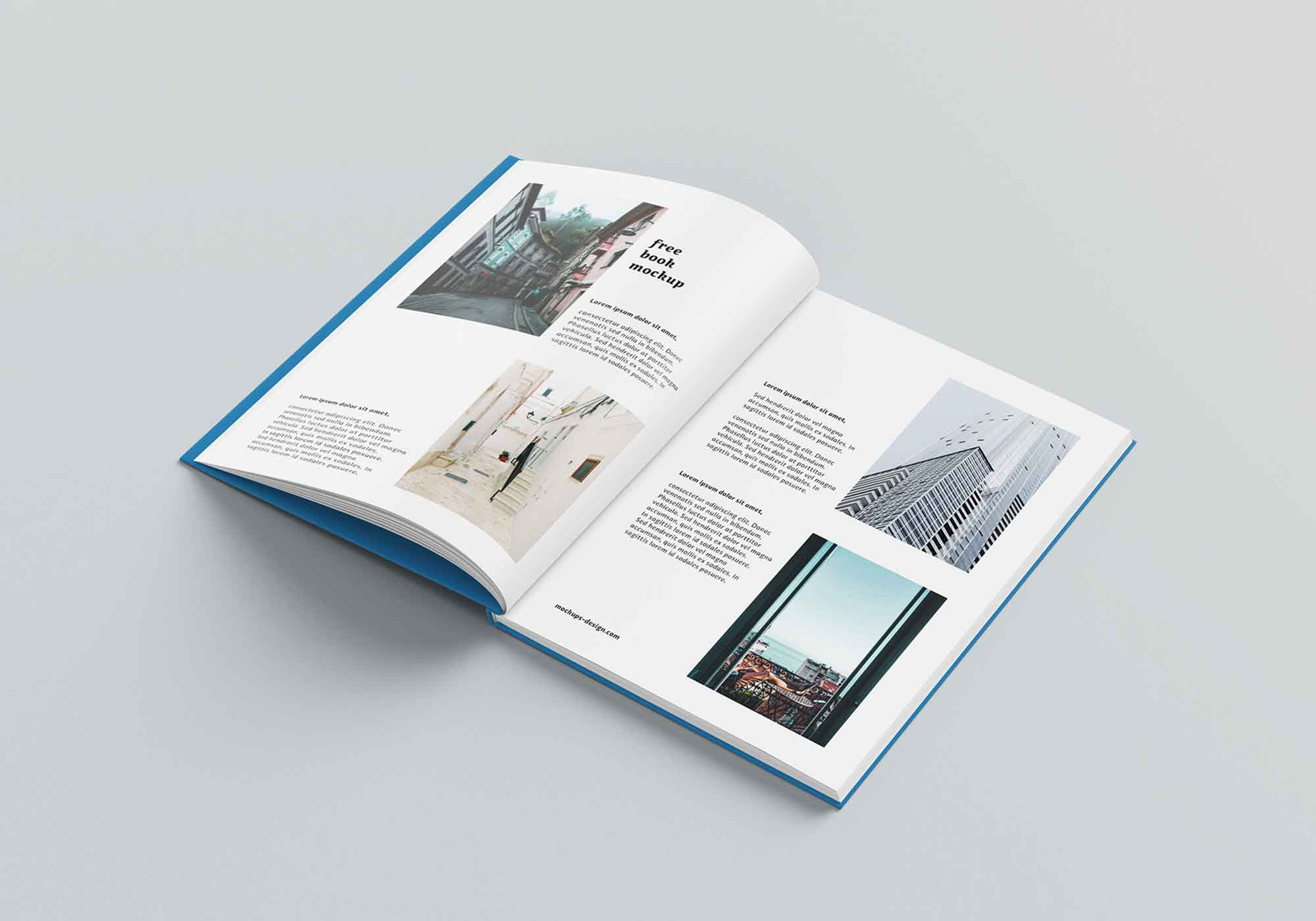 Thin A4 Hardcover Book Mockup 4