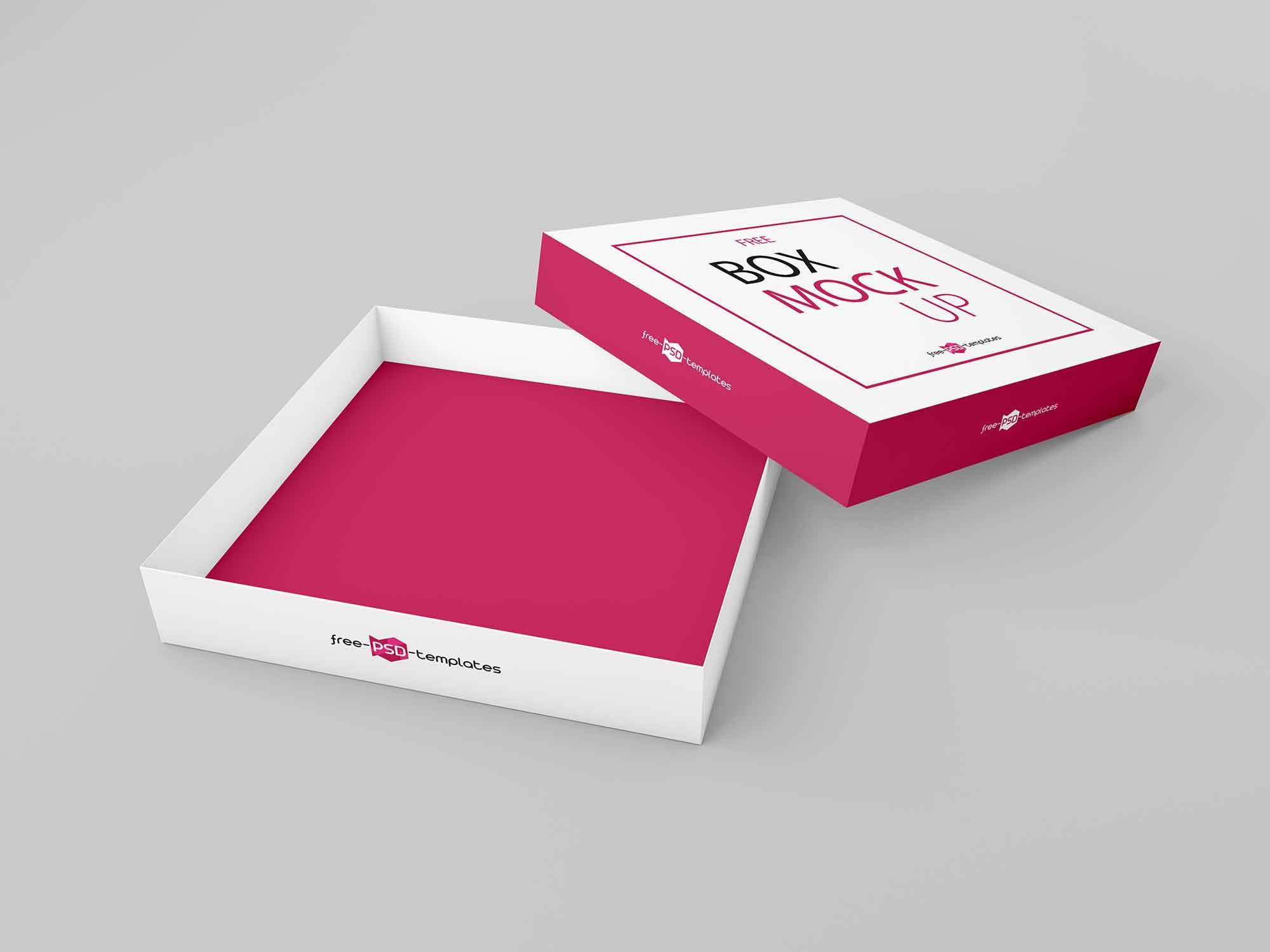 Thin Square Box Mockup 2