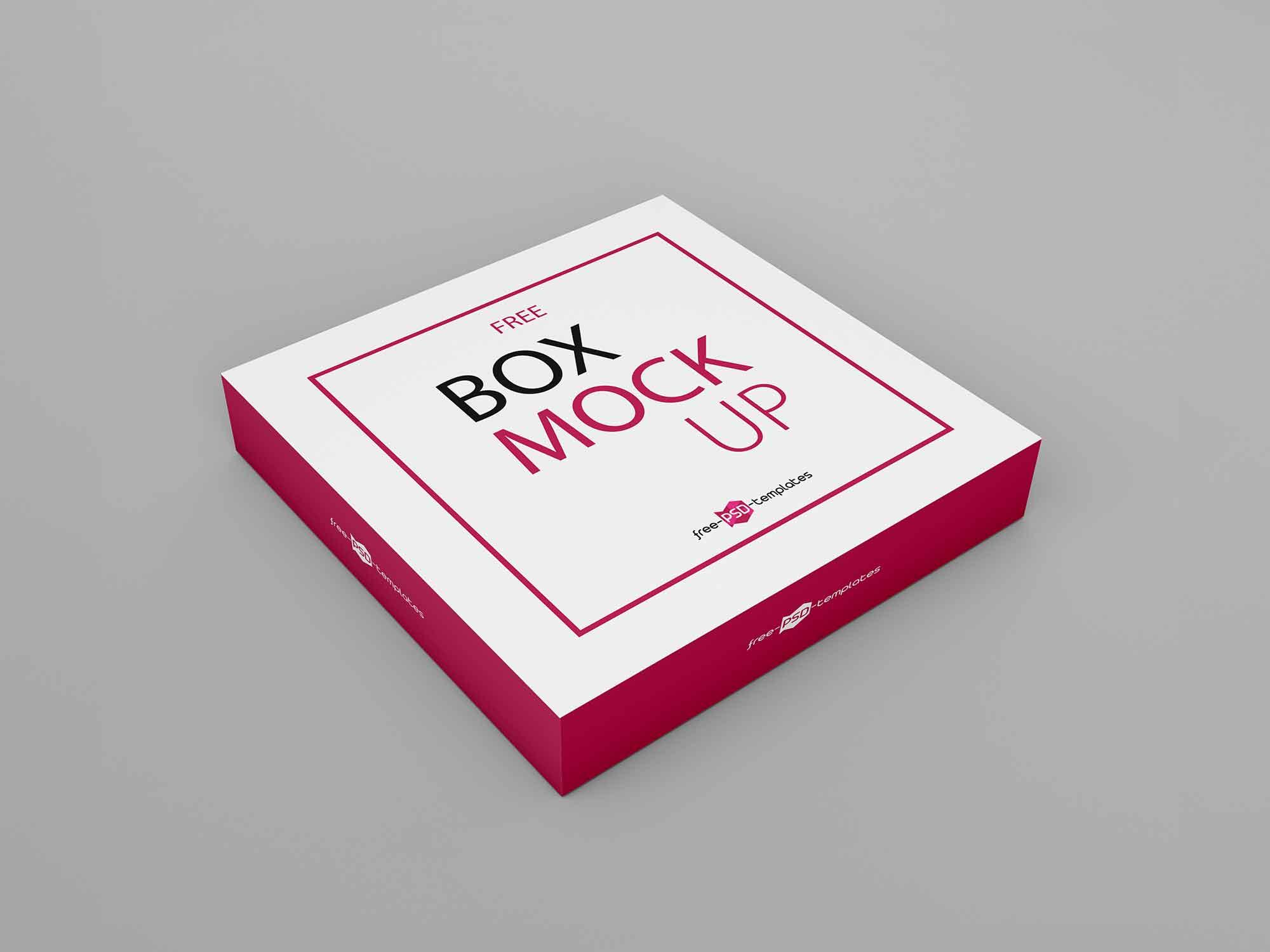 Thin Square Box Mockup