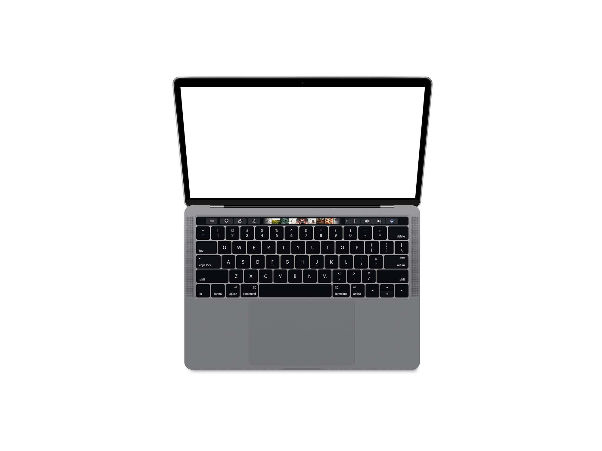 Top View MacBook Pro Mockup