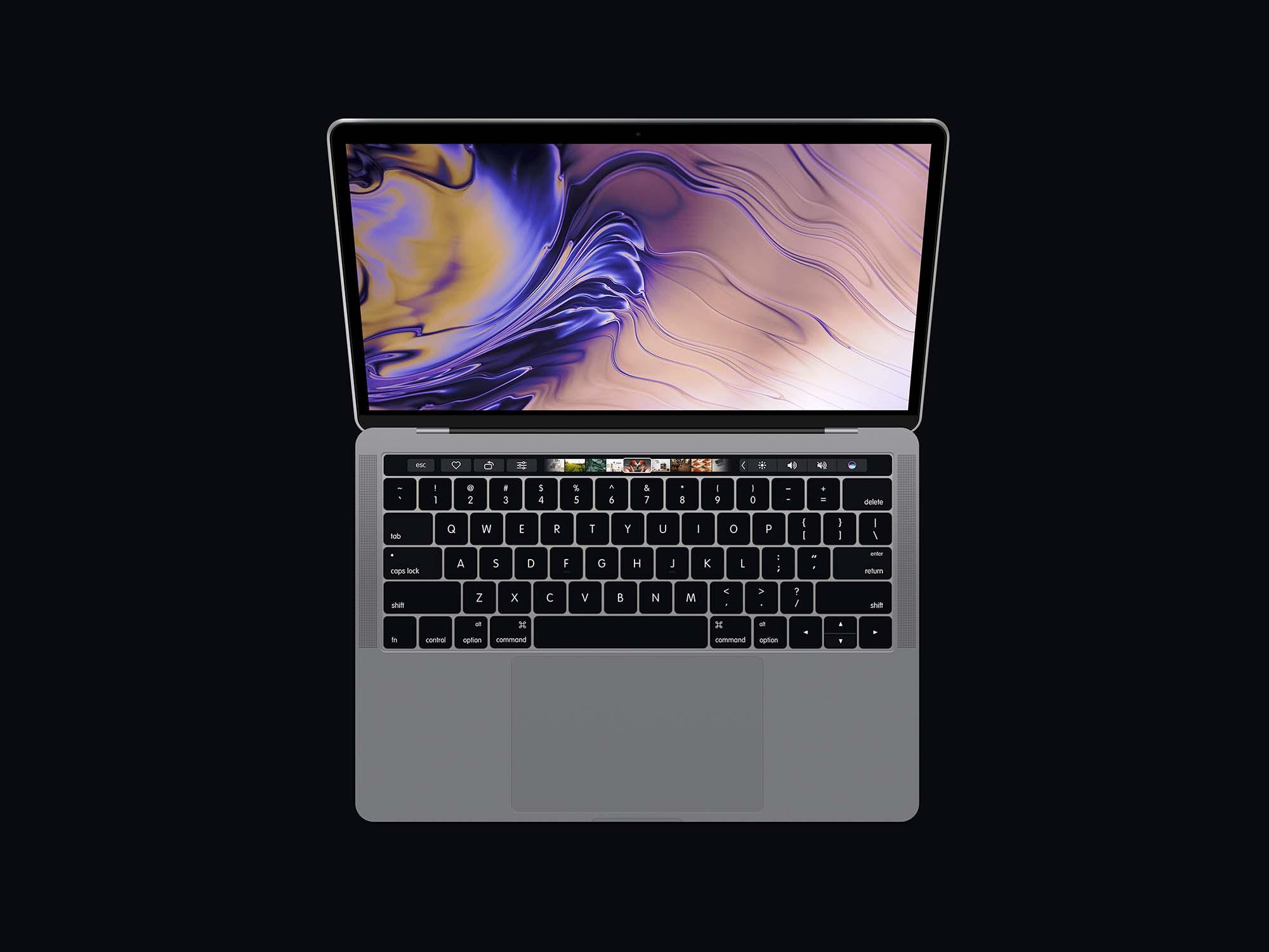 Top View MacBook Pro Mockup 2