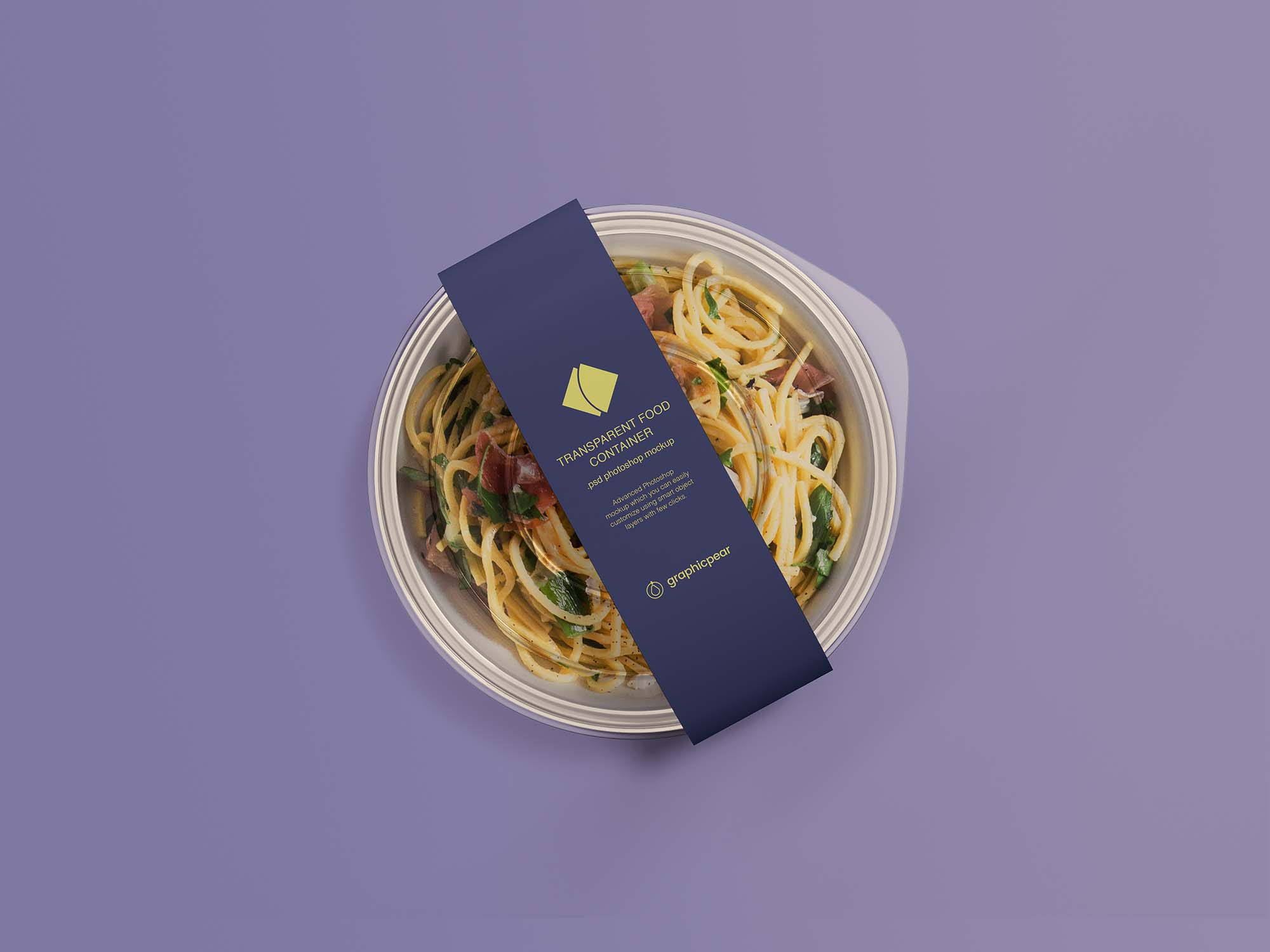 Transparent Food Container Mockup 2