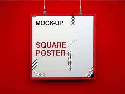Vertical, Horizontal & Square Poster Mockups