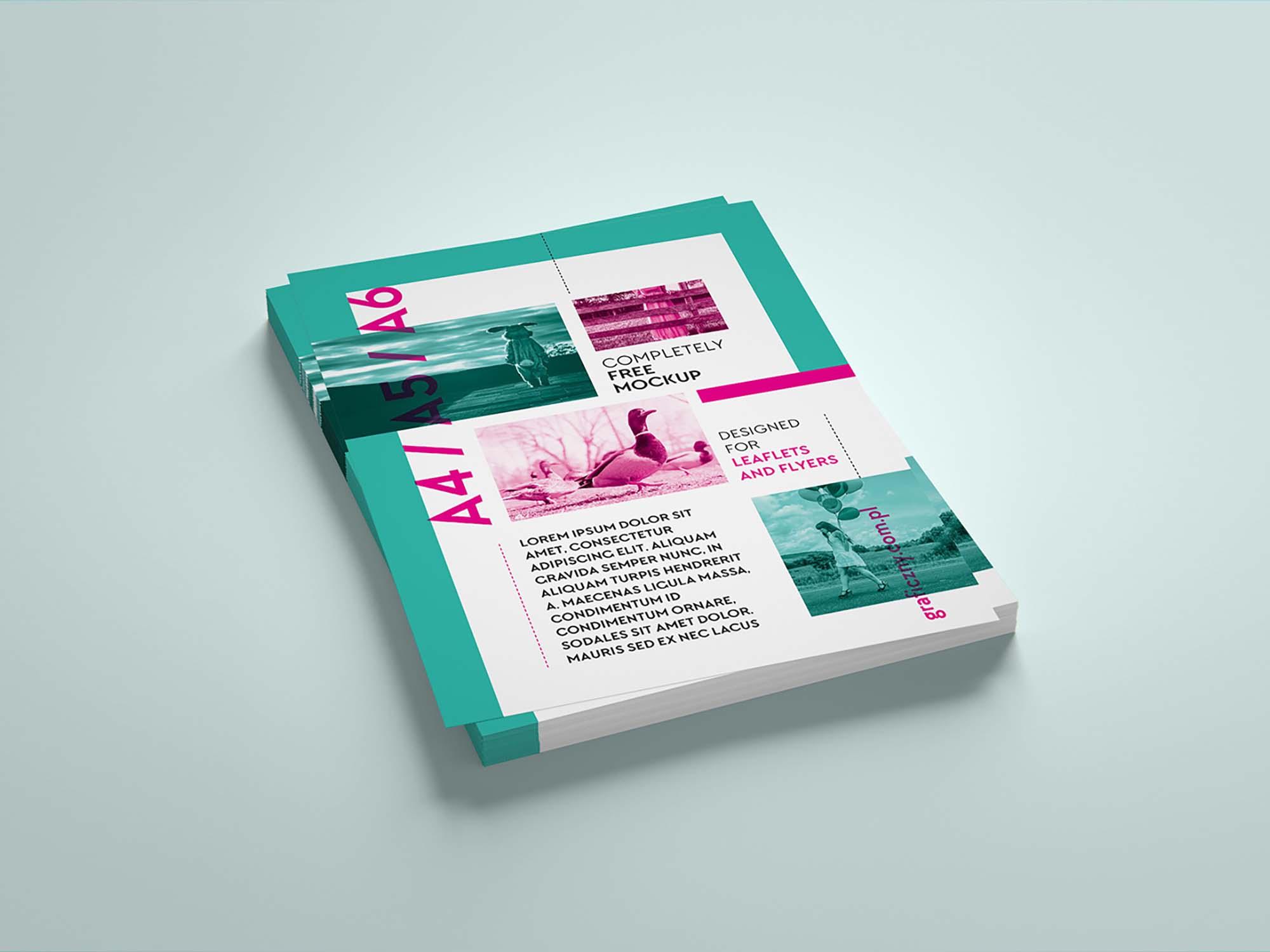 Leaflets Stack Mockup