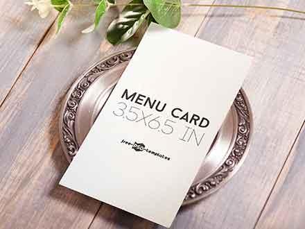 Vertical Menu Card Mockup