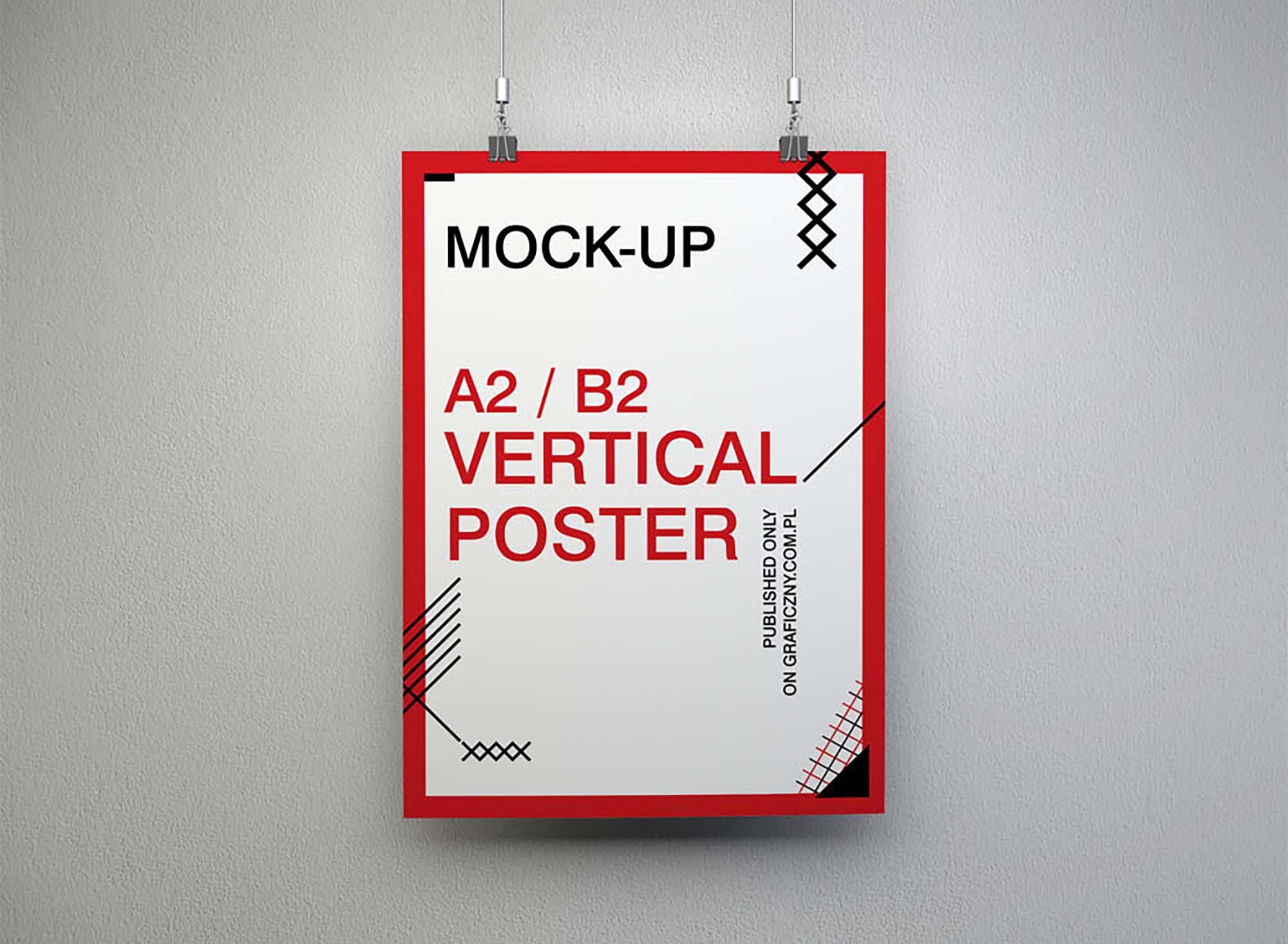 Vertical Poster Mockup