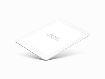White iPad Pro 9.7 Mockup