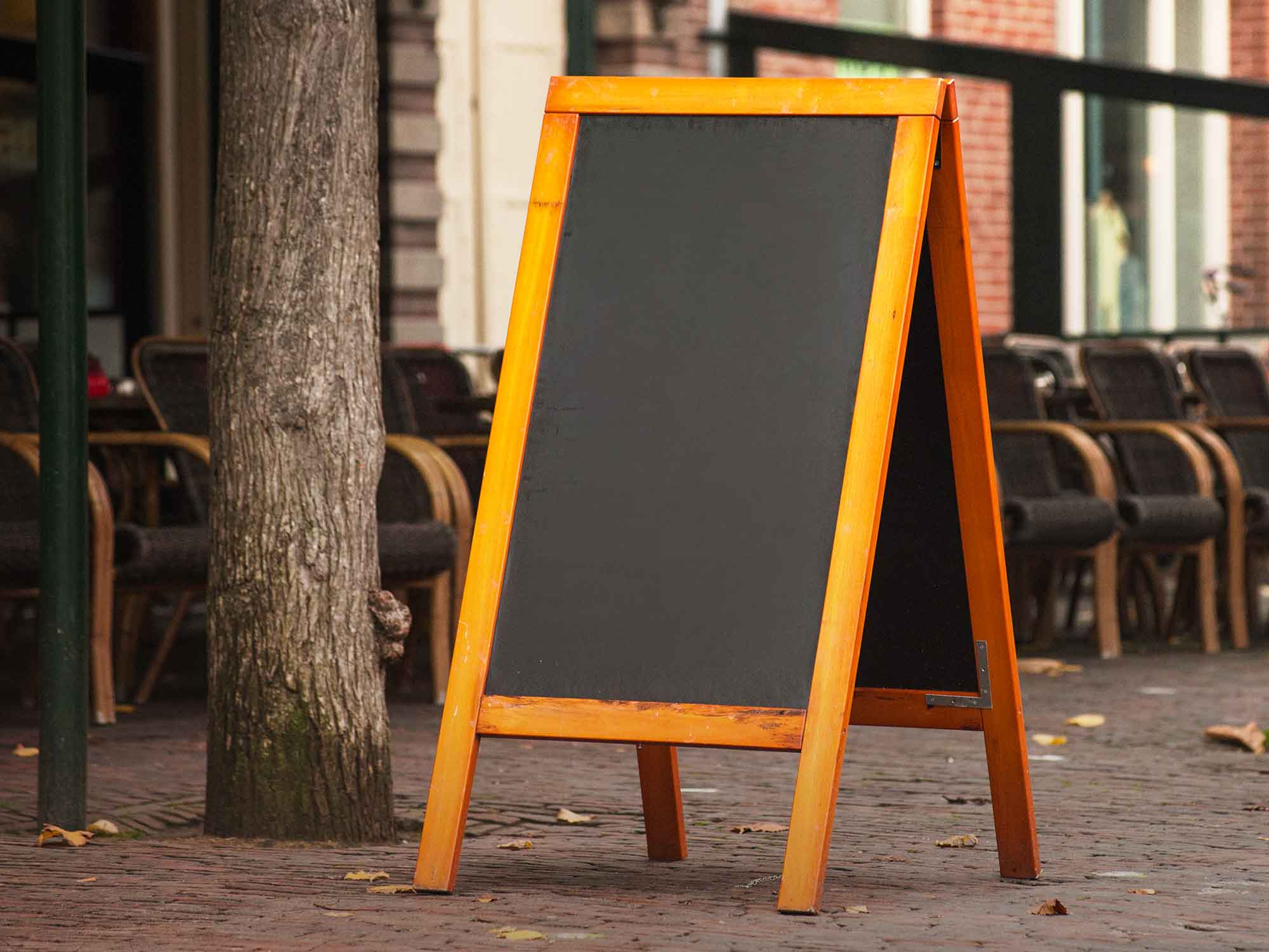 Wooden Edges Signboard Mockup 2