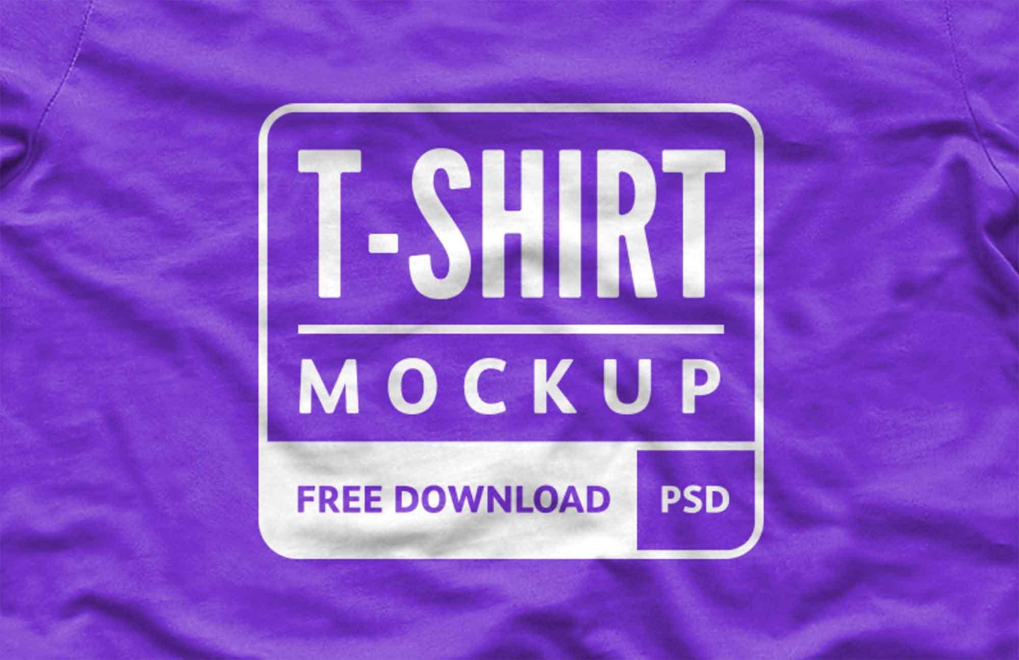 Wrinkled T-Shirt Design Mockup 2
