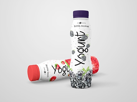 Yogurt Bottle Mockup