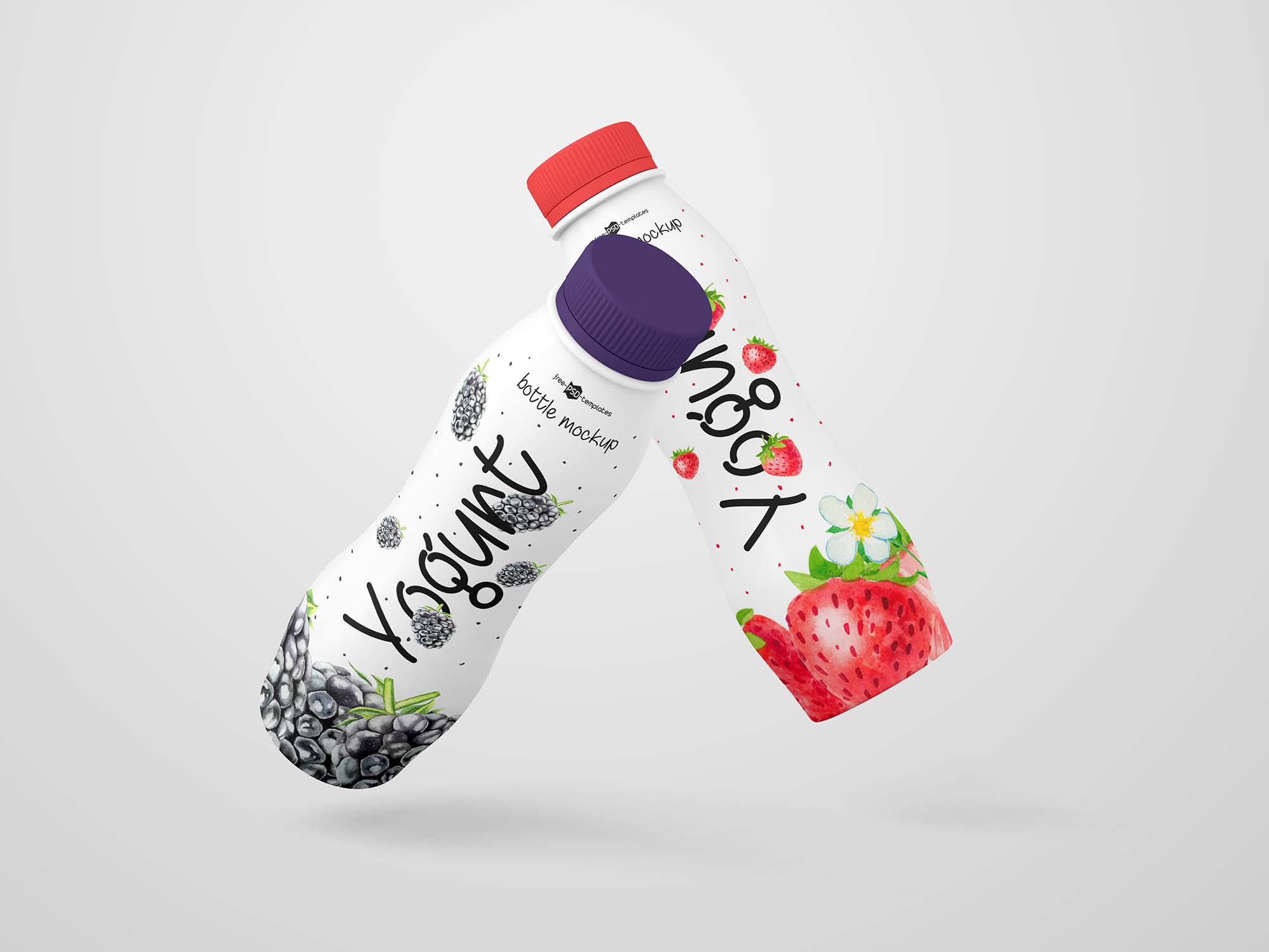 Yogurt Bottle Mockup 2