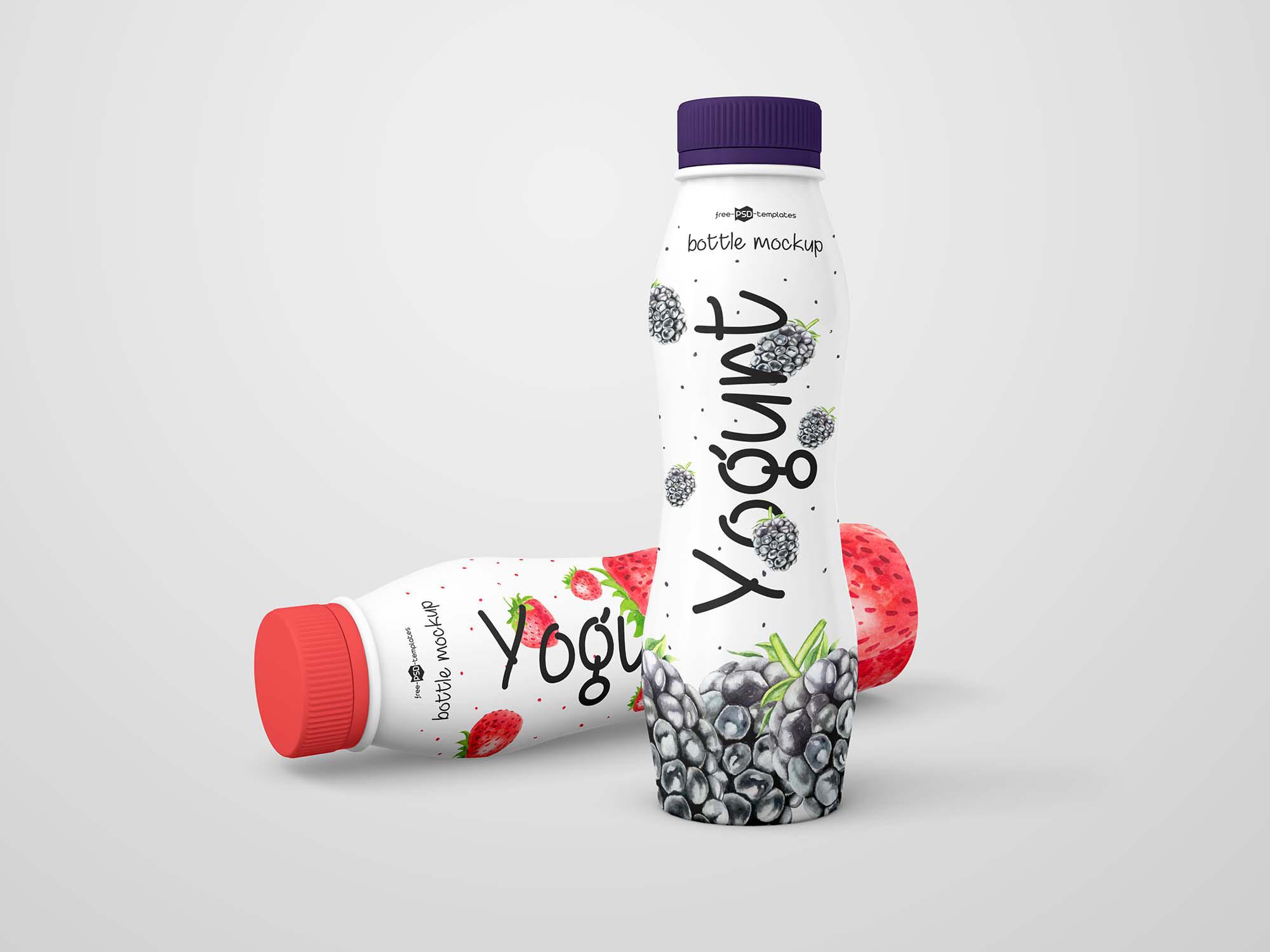 Yogurt Bottle Mockup