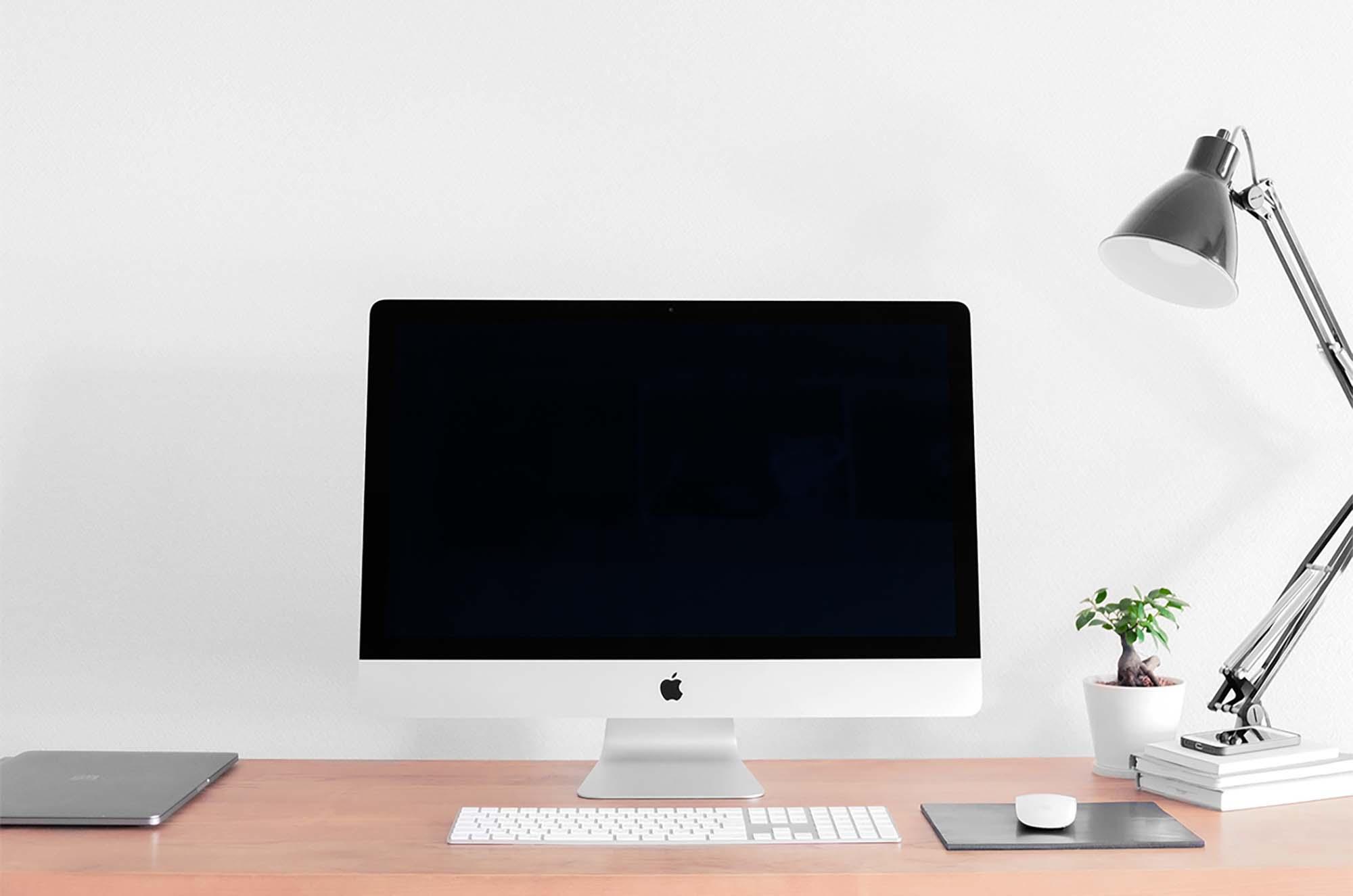 iMac on Desk Mockup 2