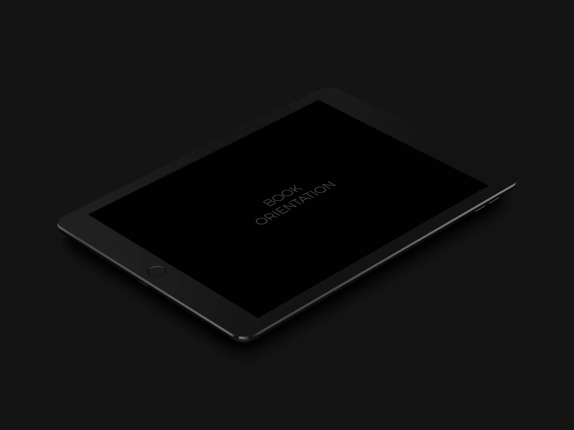 iPad Pro 9.7 Dark Mockup