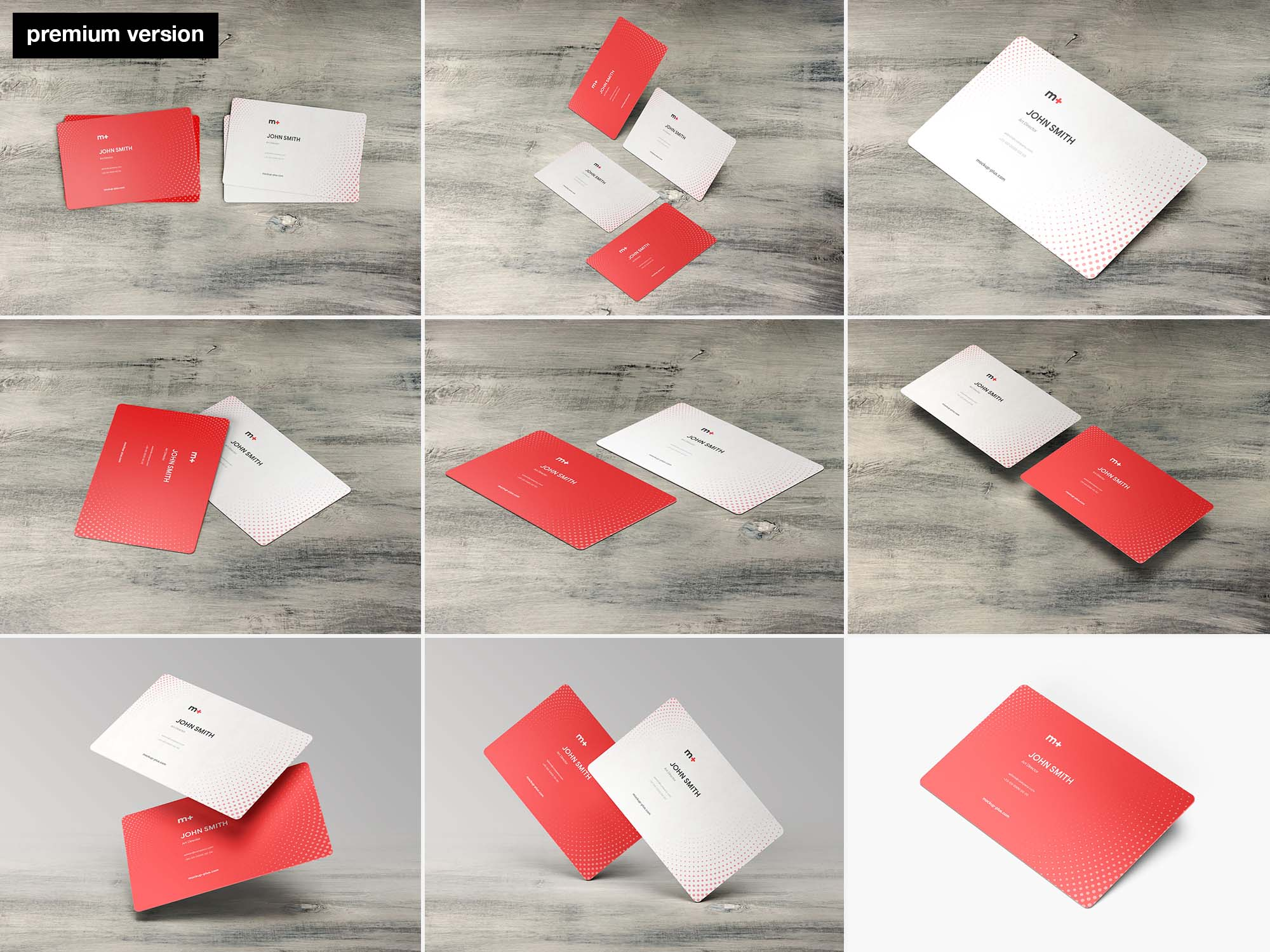 Round Corners Business Card Mockups