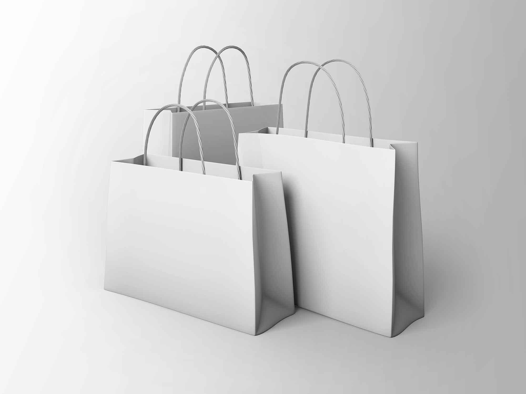 3 Paper Bags Mockup 2