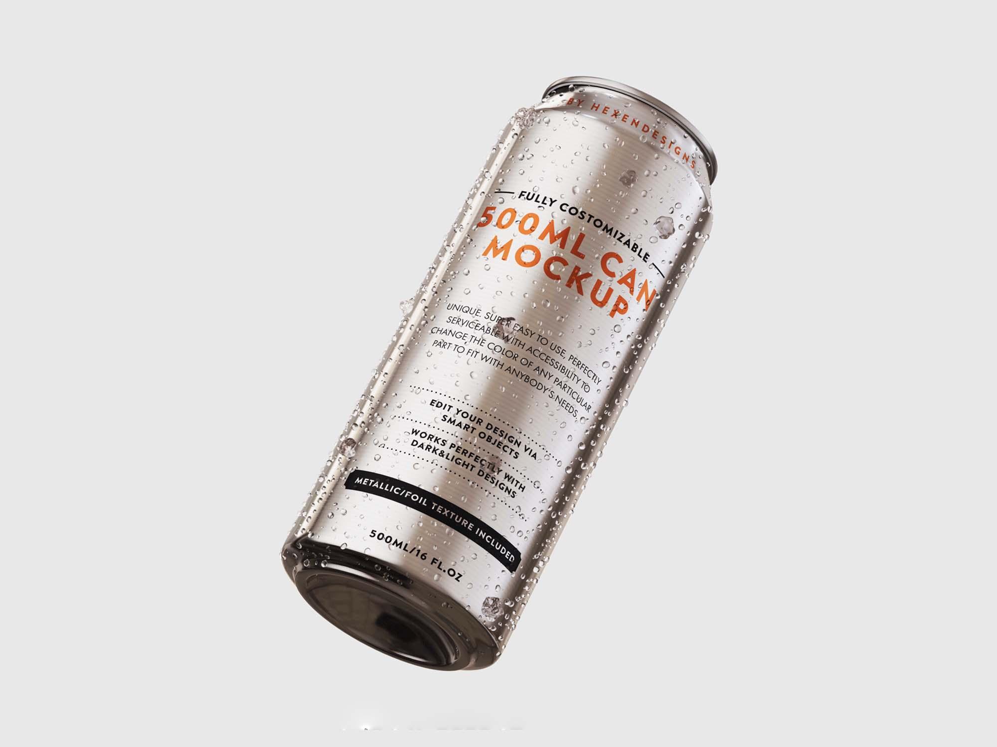 500ml Can Mockup
