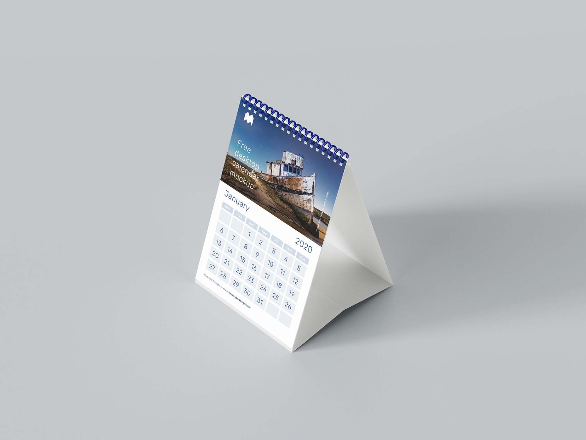A5 Desk Calendar Mockup 2