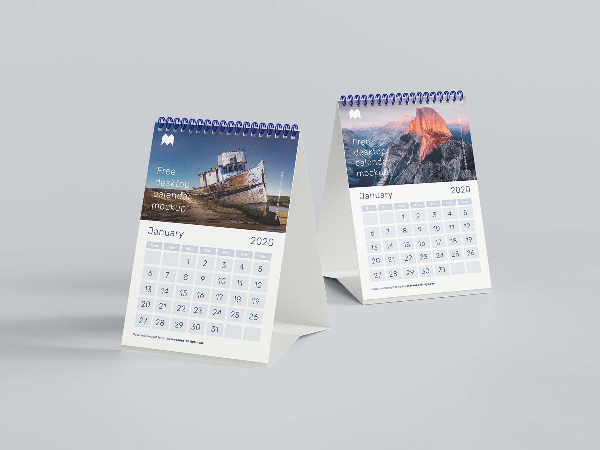 A5 Desk Calendar Mockup 3