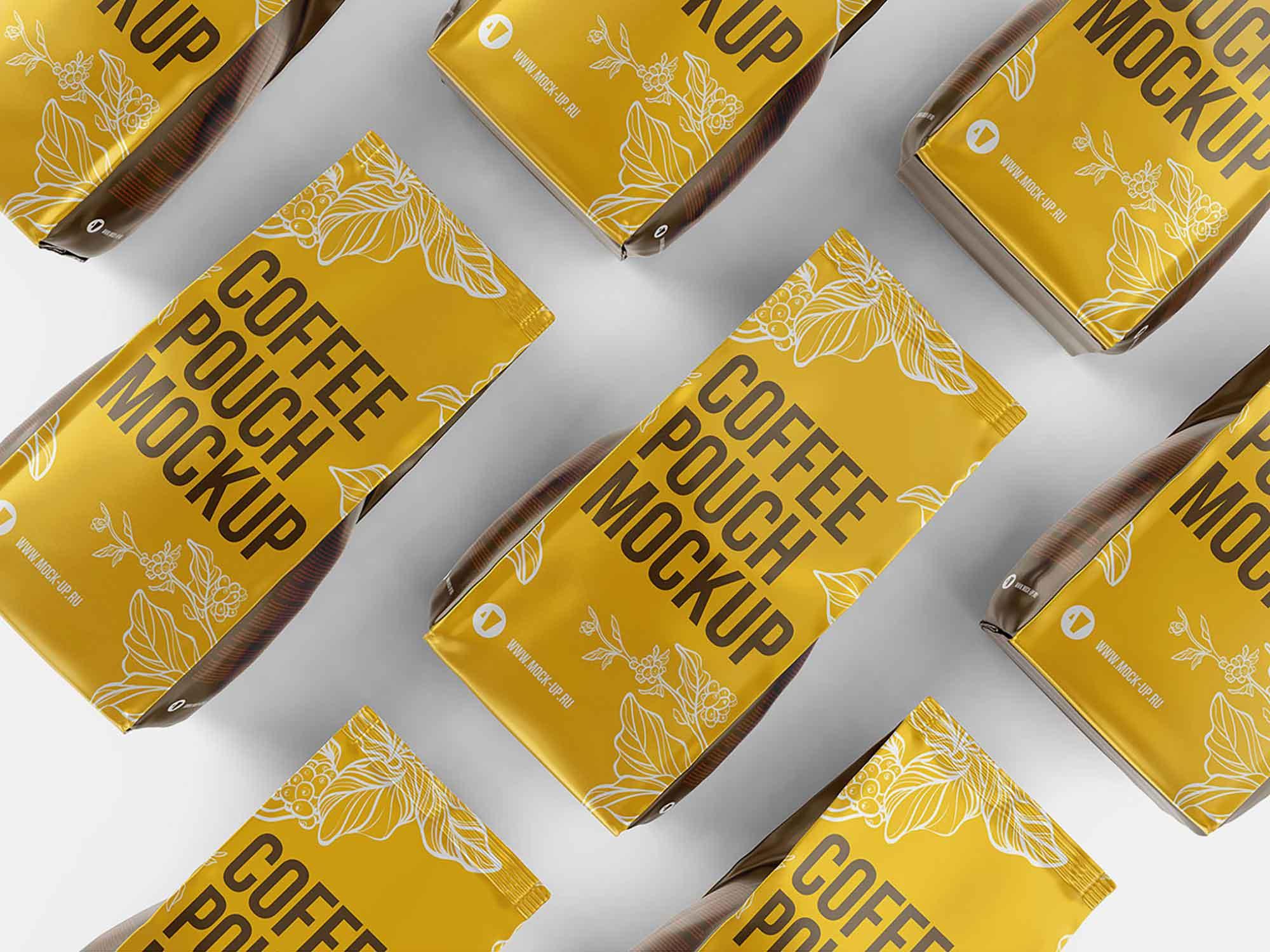 Aluminum Coffee Packaging Mockup