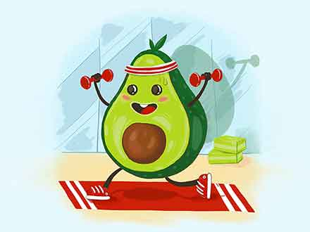 Avocado Healthy Fruit Illustration