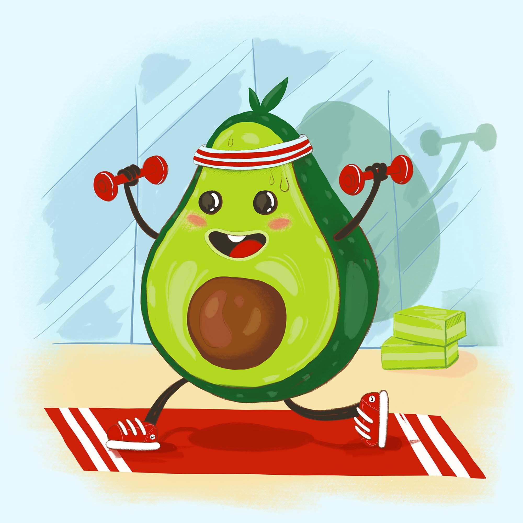 Avocado Healthy Fruit Illustration