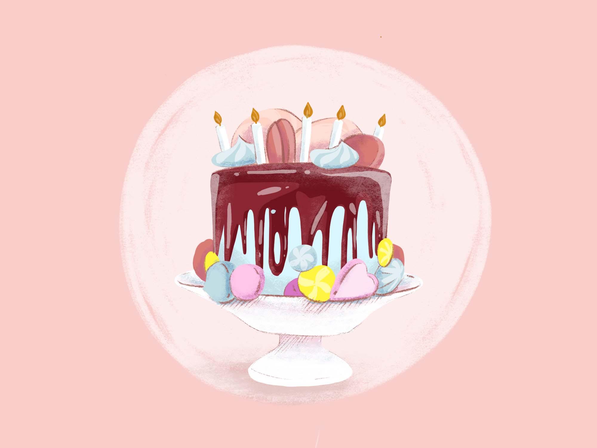 Birthday Cake Illustration 2