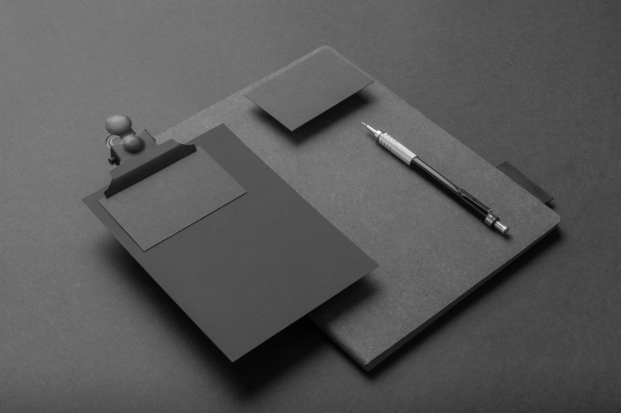 Black Branding Mockup 2
