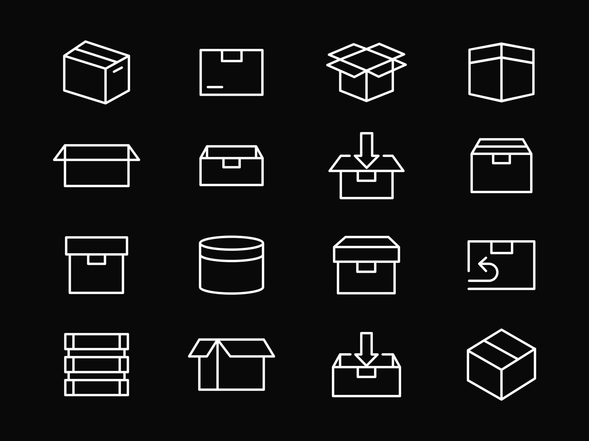 Box Packaging Vector Icons 2