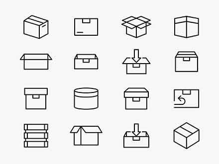 Box Packaging Vector Icons