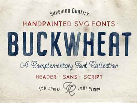 Buckwheat Hand-painted Font