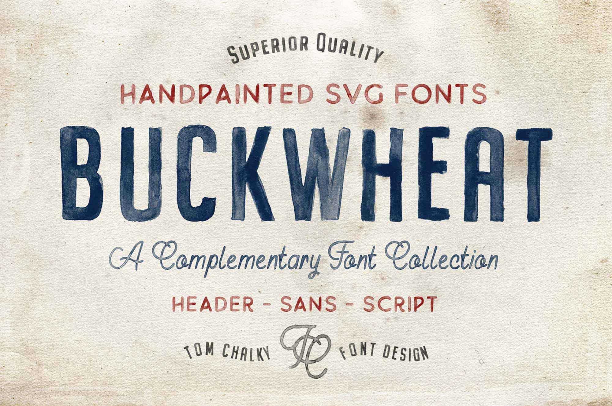 Buckwheat Hand-painted Font