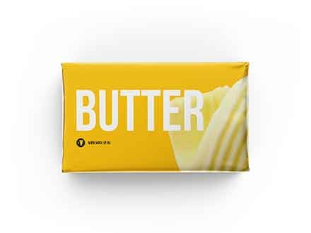 Butter Block Packaging Mockup