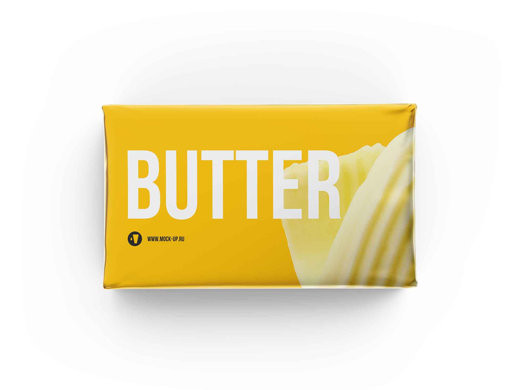 Butter Block Packaging Mockup