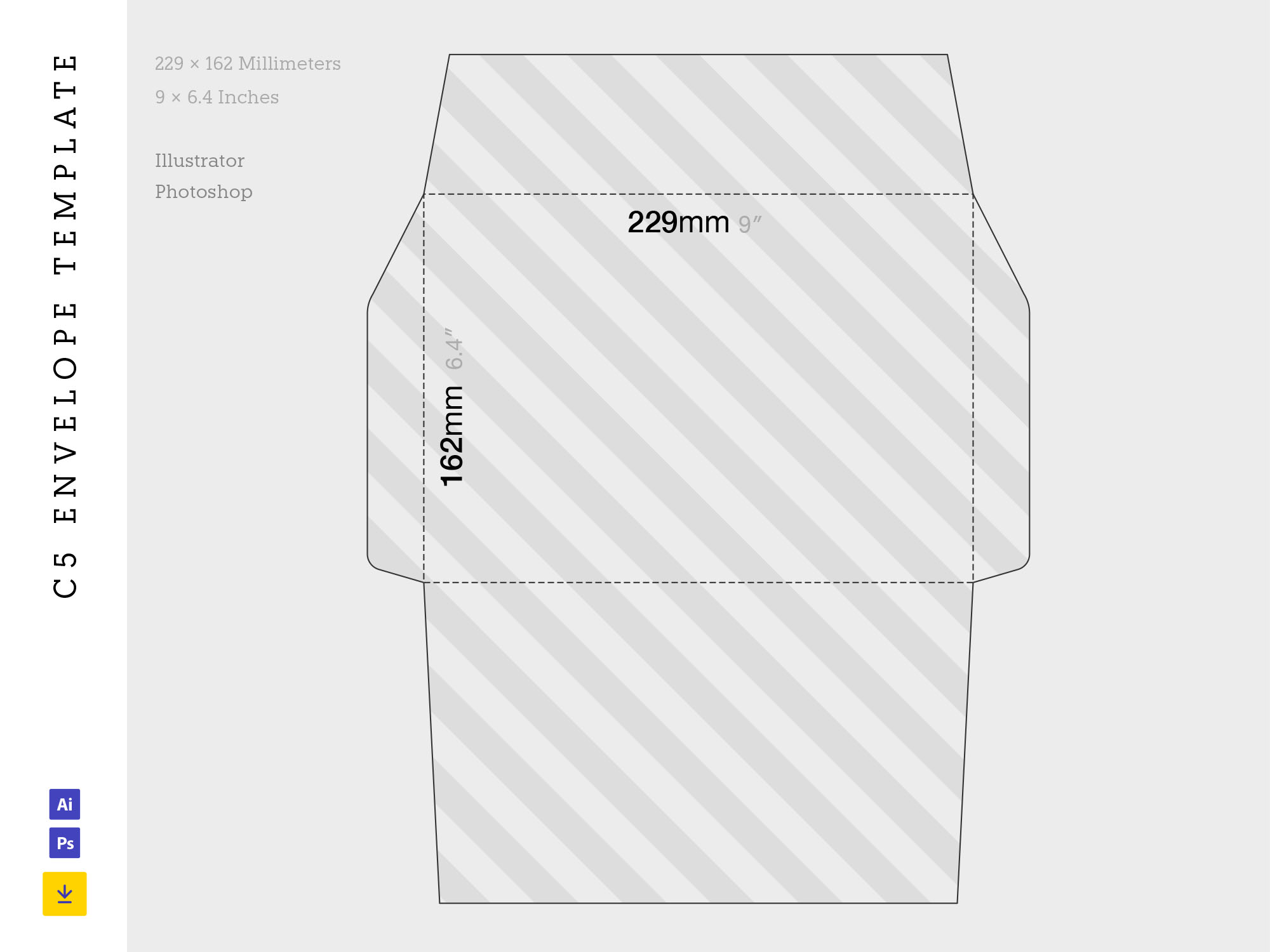 C5 Envelope Template Size