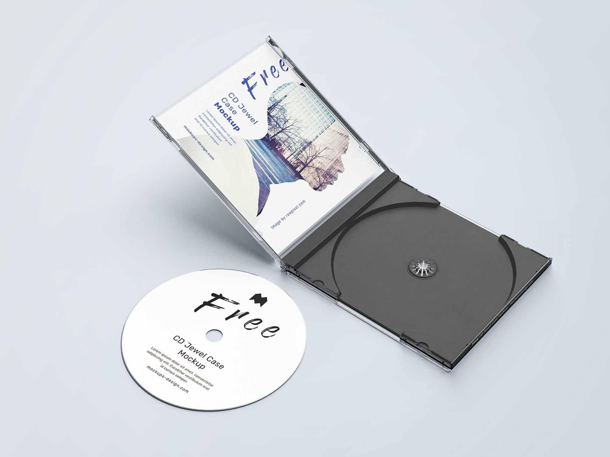 CD jewel Case Mockup 3