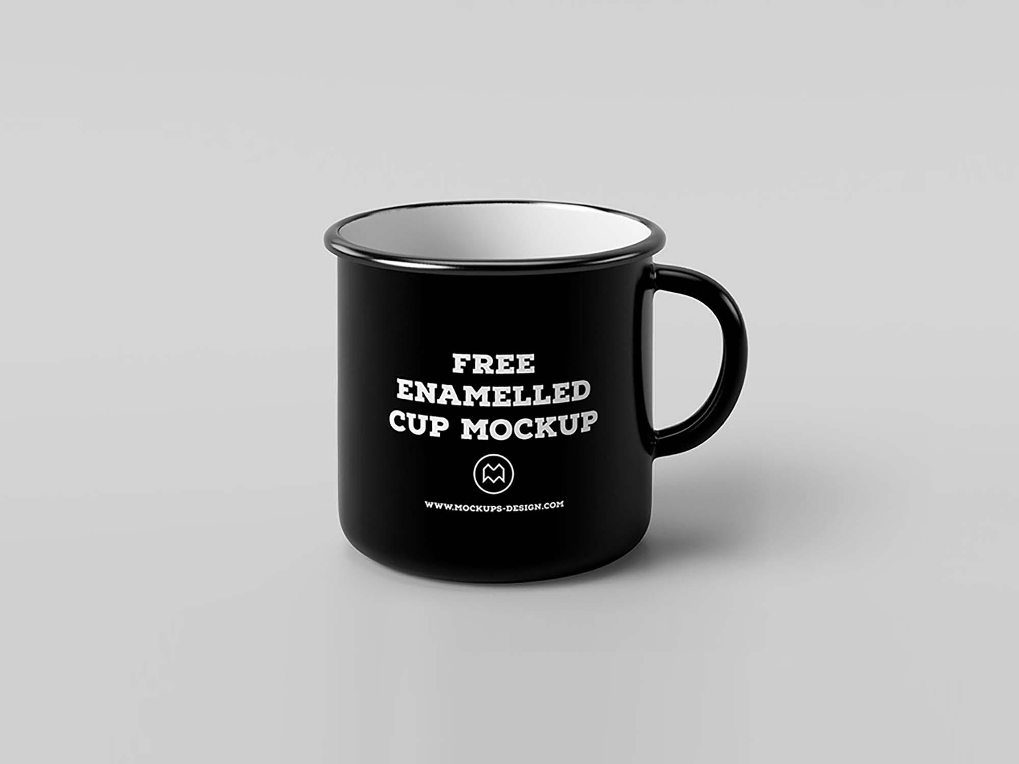 Black Classic Enamel Mug Mockup