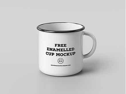 Classic Enamel Mug Mockup