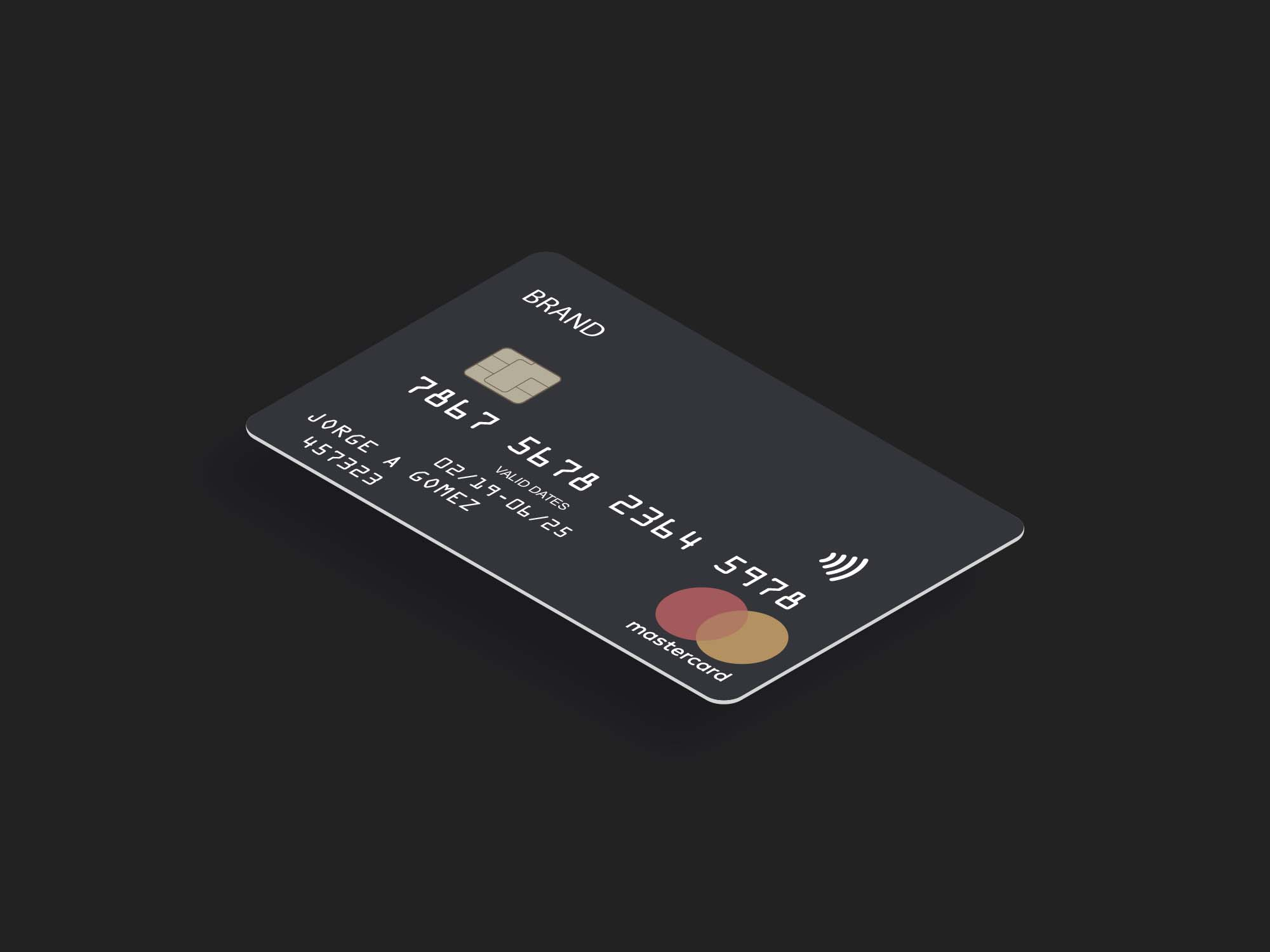 Free Contactless Credit Card Mockup Psd