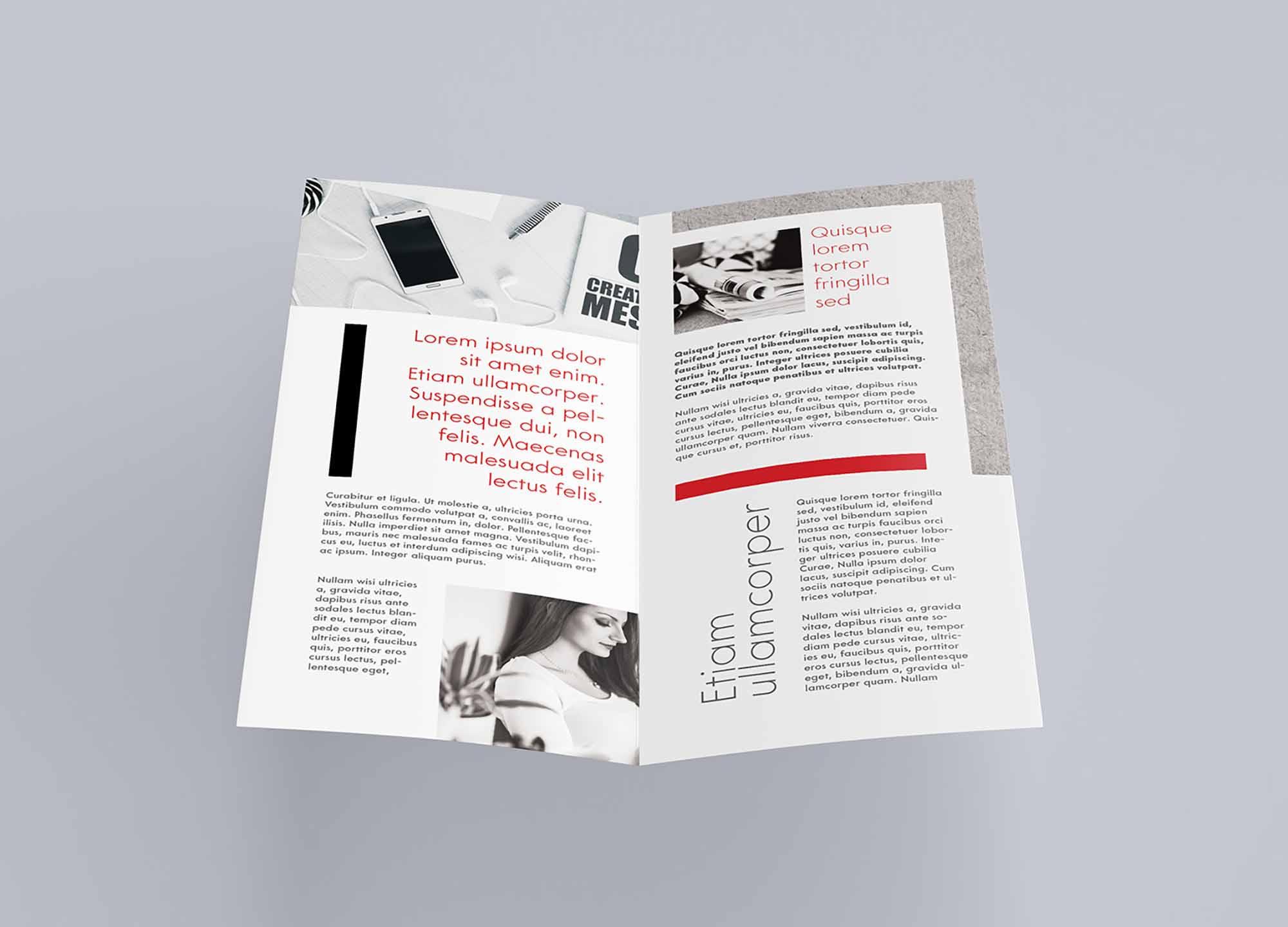 DL Bi-fold Leaflet Mockup 2