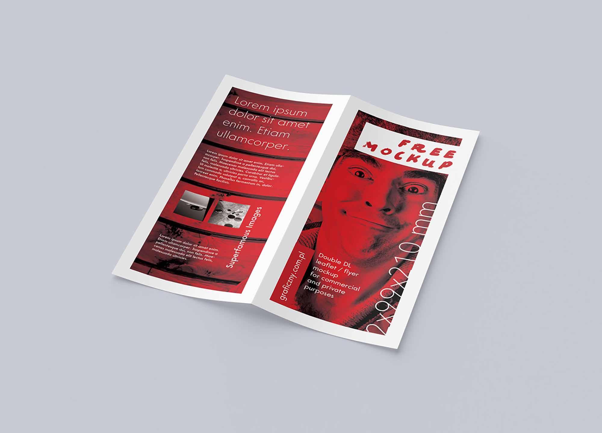 DL Bi-fold Leaflet Mockup 3