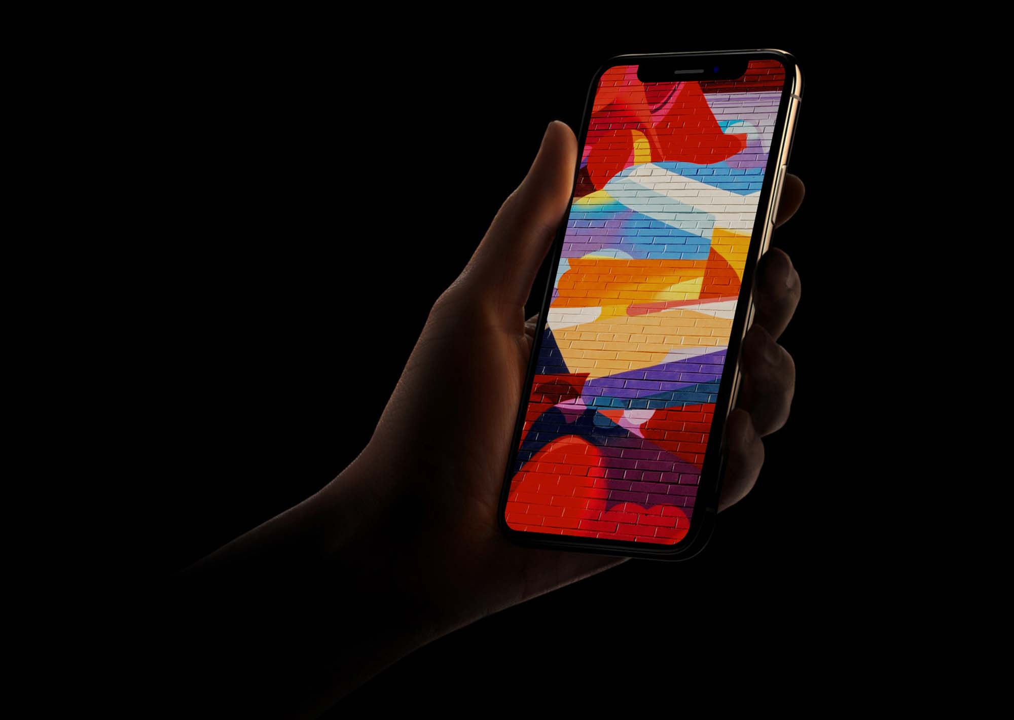 Dark iPhone XS Mockup